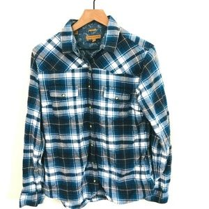 Jachs Girlfriend Plaid Pearl Snap Shirt